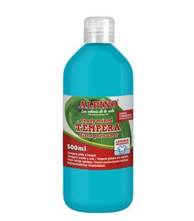 Tempera liquida 500 ml azul cyan alpino dm010180