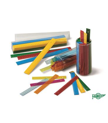 Regla 16cm bote 100 uds. plastico colores fluor faibo - 111459
