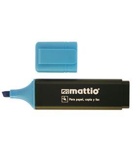 Marcador fluorescente azul mattio 49549