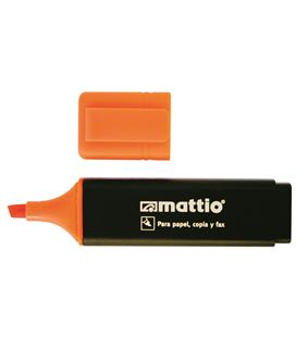 Marcador fluorescente naranja mattio 49551