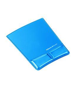 Alfombrilla gel ergonómico canalv azul fellowes 9182201