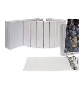 Carpeta canguro 4 anillas a3 25mm blanca grafolioplas 03696570