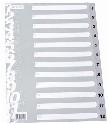Indice numerico pp a4 1-12 gris multit grafolioplas 41413071 - 221135