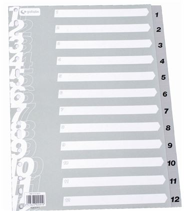 Indice numerico pp a4 1-12 gris multit grafoplas 41413071 - 221135