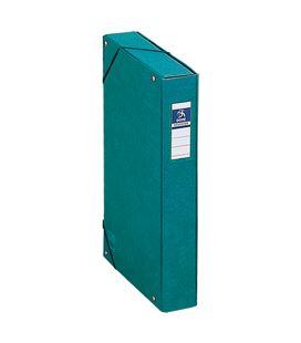 Carpeta proyectos 5cms verde carton forrado office dohe 09730