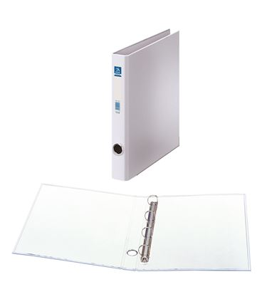 Carpeta 4 anillas folio 25mm carton folio. ofi. blanco dohe 09671 - 09671