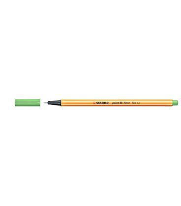 Rotulador 04 punta fibra verde fluor point 88 stabilo 88/033 - 190883