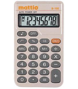 Calculadora bolsillo 8/10 dig b-100 mattio mtt2160101 493456 - MTT2160101
