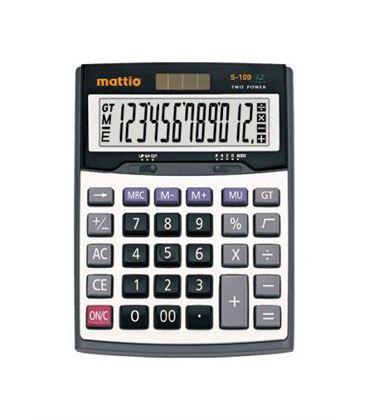Calculadora sobremesa s-100 mattio mtt2160103 493470 - MTT2160103
