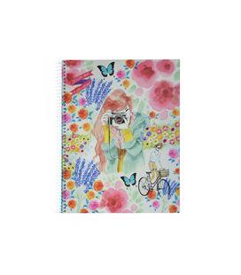 Cuaderno a4 4x4 120h 70grs floral jl miquelrius 47688