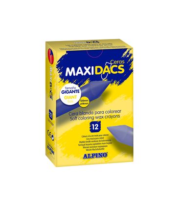 Pintura de cera larga amarillo 12u maxidacs alpino dx060103 - 111333
