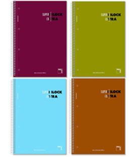 Cuaderno a4 5x5 120h 90grs microperfoliorado pacsa 16366