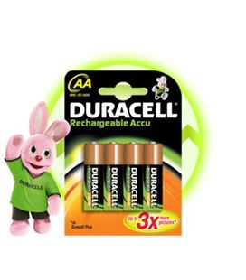 Pila alcalina recargable aa hr06 4u. duracell