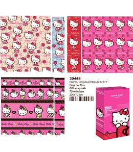 Papel regalo 70cmsx2mts hello kitty montichelvo 30447 30448