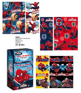 Papel regalo 70cmsx2mts spiderman montichelvo 30459