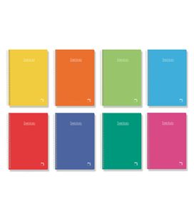 Cuaderno fº pauta 2,5 80h 60grs tapa dura color pacsa 16222 - 113950
