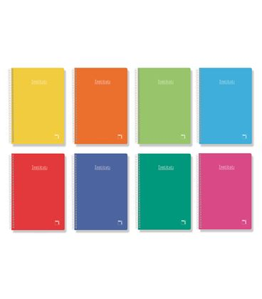 Cuaderno espiral cuarto pauta 2,5 80h 60grs tapa dura color pacsa 16737 - 113956