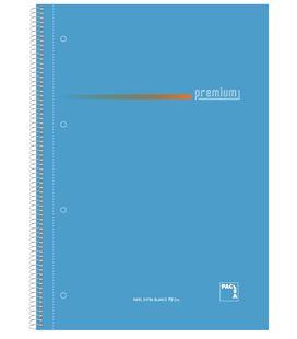 Cuaderno folio rayado 100h 70grs surtido premium pacsa 16099