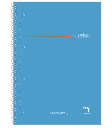 Cuaderno folio rayado 100h 70grs surtido premium pacsa 16099 - 113959
