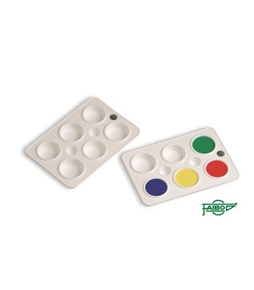 Paleta plastico pintura 6 departamentos faibo 763 - 111690