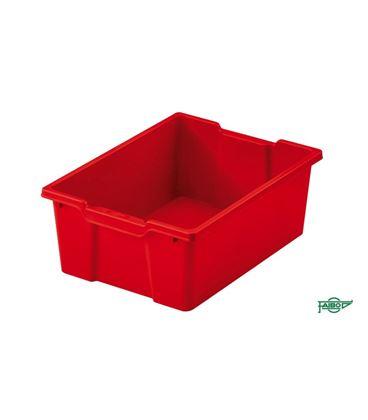 Cubeta grande sin tapa rojo faibo 785-03 - 785-03