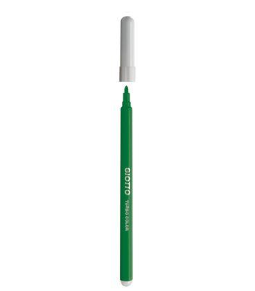 Rotulador escolar verde oscuro turbo color 12u giotto 485020 - 114172