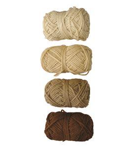 Ovillo gama marron, beige, marron claro y piel 4u. niefenver 1100101