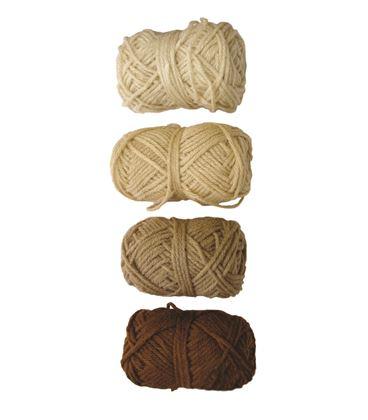 Ovillo gama marron, beige, marron claro y piel 4u. niefenver 1100101 - 112137