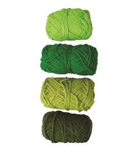 Ovillo gama verde, verde intenso, lima y pino niefenver 4u. 1100103