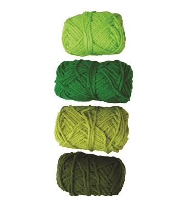 Ovillo gama verde, verde intenso, lima y pino niefenver 4u. 1100103 - 112139