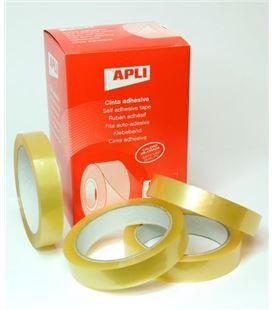 Cinta adhesiva transparente 19mmx66m apli 11266 - 200075
