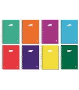 Cuaderno espiral 4º liso 80h 60grs tapa color pacsa 16307