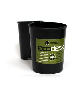 Portalapices doble negro ecodesk rexel 2102009