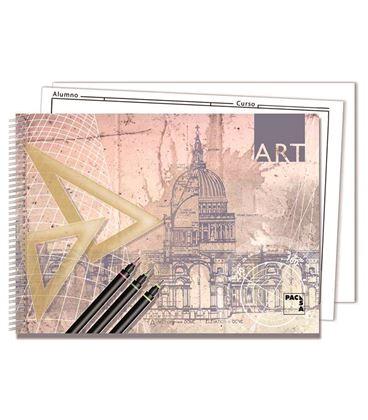 Cuaderno dibujo folio pro. 140grs 20h liso pacsa 18849 - 230237