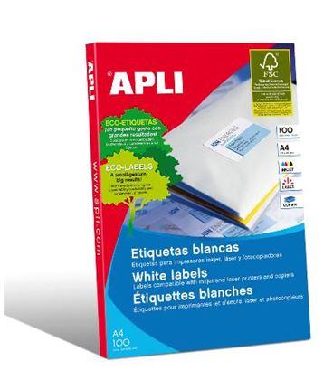 Etiqueta poliv. a4 100h 38mmx21,2mm 6500u c/r/b apli 01283 - 160285
