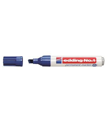 Rotulador permanente biselada recarg azul nº1 edding 1-03 - ED103