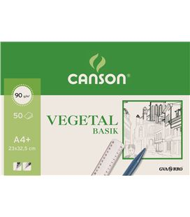 Papel vegetal bloc 50h a4+ guarro 200400714