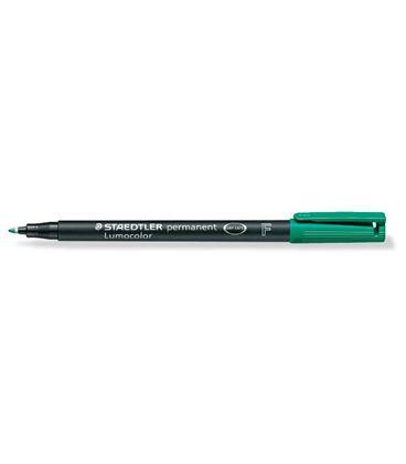 Rotulador permanente verde lumocolor 318 f staedtler 318-5 - 191179