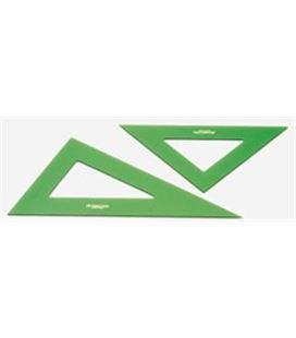 Escuadra 28cms verde faber castell 566-28