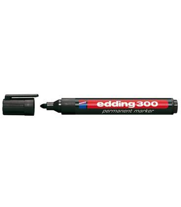 Rotulador permanente punta conica recargable negro edding 300-01 - 190969