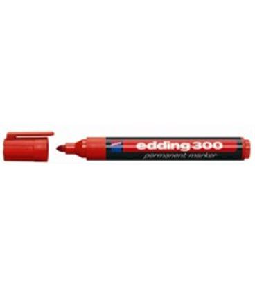Rotulador permanente punta conica recargable rojo edding 300-02 - ED30002