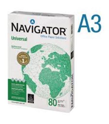 Papel a3 500h 80grs blanco multifuncion universal navigator - 119906