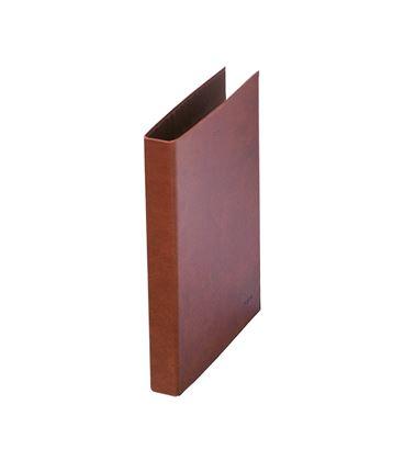 Carpeta 2 anillas fº 25mm cuero forrado dohe 09551 - 09551