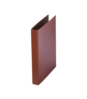Carpeta 4 anillas fº 25mm cuero forrado dohe 09553 - 09553