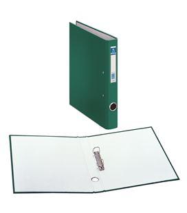 Carpeta 2 anillas fº 25mm carton forra. ofi.verde dohe 09423