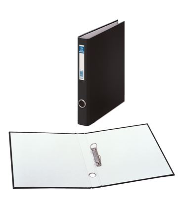 Carpeta 2 anillas folio 25mm carton folio. ofi. negro dohe 09424 - 09424
