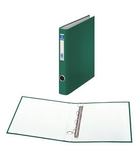 Carpeta 4 anillas fº 25mm carton fo. ofi. verde dohe 09667