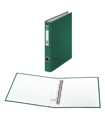 Carpeta 4 anillas fº 25mm carton fo. ofi. verde dohe 09667 - 09667