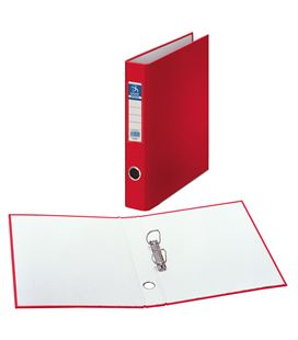 Carpeta 2 anillas folio 40mm carton folio. ofico. rojo dohe 09429