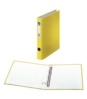 Carpeta 4 anillas fº 25mm carton fo. ofi. amaril dohe 09669 - 09669